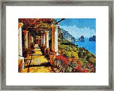 Capri Promenade Framed Print by Dragica  Micki Fortuna