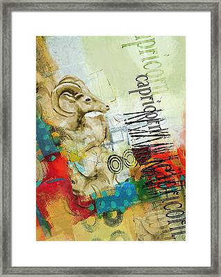 Capricorn Star Framed Print by Corporate Art Task Force