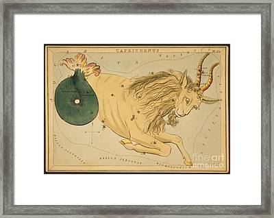 Capricornus Constellation Zodiac Sign Framed Print by Science Source