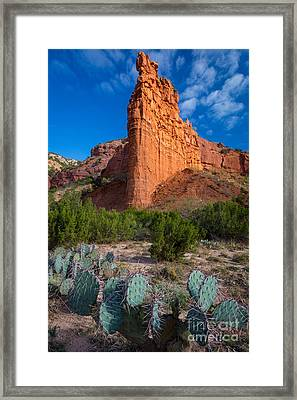 Caprock Canyon Wall Framed Print by Inge Johnsson
