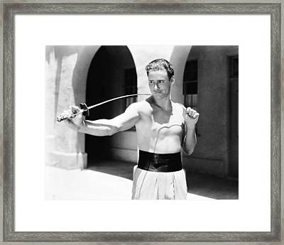 Captain Blood  Framed Print by Silver Screen