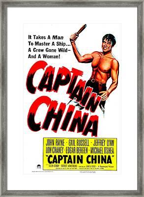 Captain China, Us Poster, John Payne Framed Print by Everett