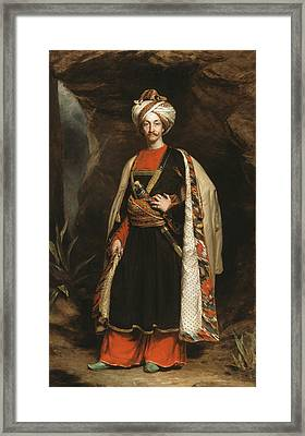Captain Colin Mackenzie In His Afghan Framed Print by James Sant