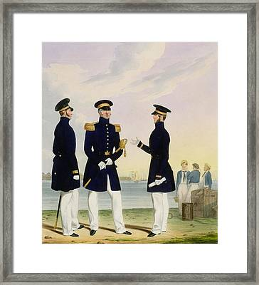 Captain Flag Officer And Commander Framed Print by Eschauzier and Mansion