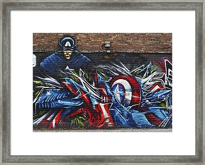 Captain Graffiti Framed Print by Frozen in Time Fine Art Photography