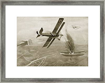 Captain Hawkers Aerial Battle Framed Print by W. Avis