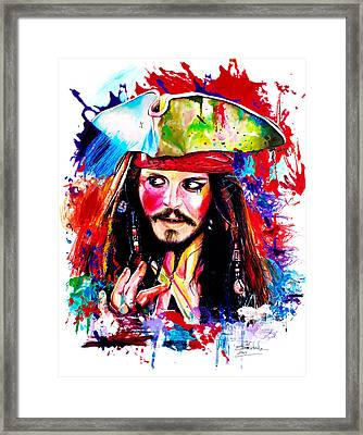 Captain Jack Sparrow  Framed Print by Isabel Salvador
