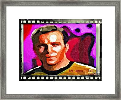 Captain James T Kirk Framed Print by John Malone