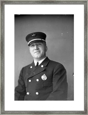 Captain Kinch Of The Century Of Progress Fire Department Framed Print by Retro Images Archive