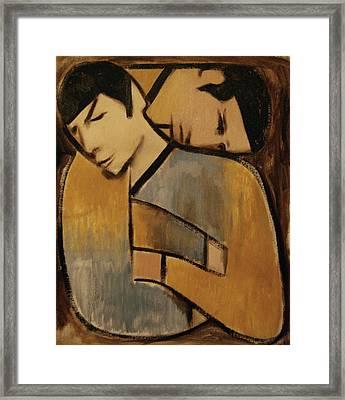 Captain Kirk Spock Cubism Framed Print by Tommervik