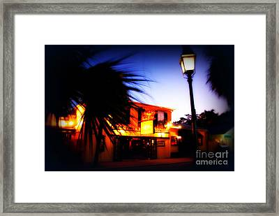 Captain Tony's Bar In Key West Florida Framed Print by Susanne Van Hulst