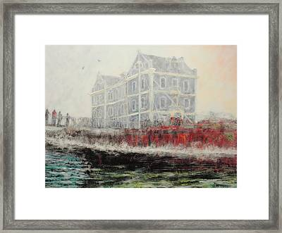 Captains Manor In The Fog Framed Print by Michael Durst