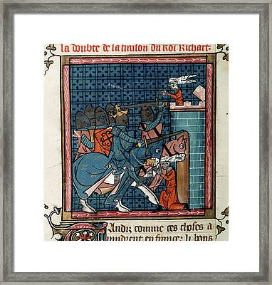 Capture Of Acre Framed Print by British Library