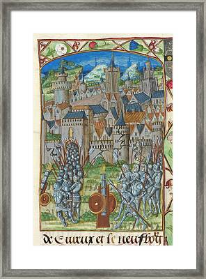 Capture Of Evreux Framed Print by British Library
