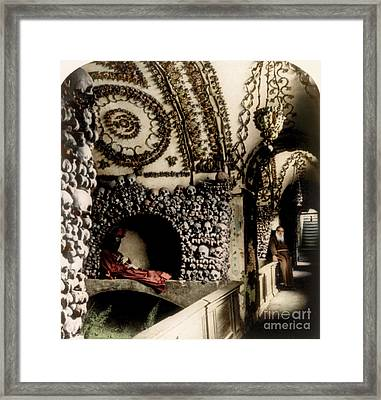 Capuchin Catacombs 1897 Framed Print by Science Source