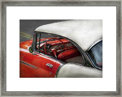 Car - Classic 50's  Framed Print by Mike Savad