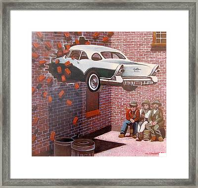 Car Crash Framed Print by Melinda Saminski