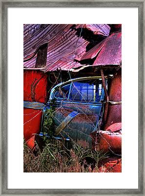 Car Door Framed Print by David Patterson