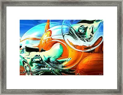 Car Fandango - Abstract Art Framed Print by Art America Online Gallery