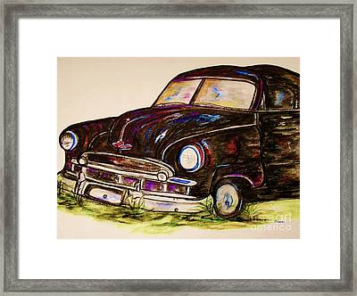 Car Of Character Framed Print by Eloise Schneider