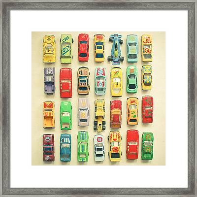 Car Park Framed Print by Cassia Beck