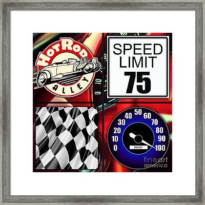 Speed Demon Art For Boys And Men Framed Print by Marvin Blaine