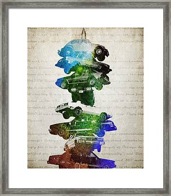 Car Spindle Framed Print by Aged Pixel