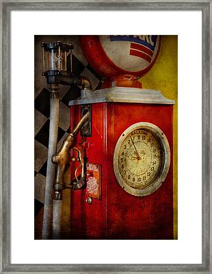 Car - Station - 19 Gallons  Framed Print by Mike Savad