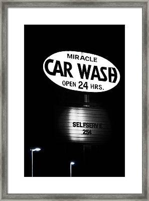 Car Wash Framed Print by Tom Mc Nemar
