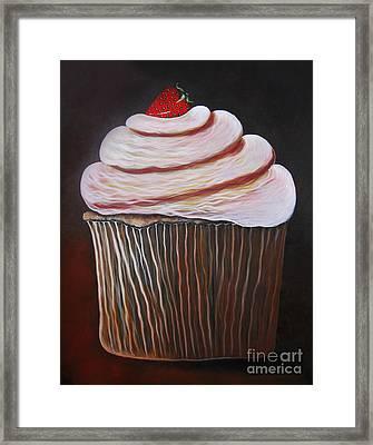 Caramel Cupcake By Shawna Erback Framed Print by Shawna Erback