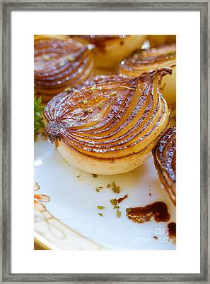 Caramelized Balsamic Onions Framed Print by Edward Fielding