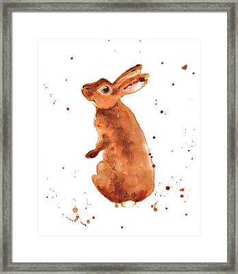 Caramella Bunny Framed Print by Alison Fennell