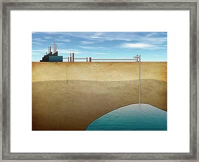 Carbon Capture Technology Framed Print by Mikkel Juul Jensen