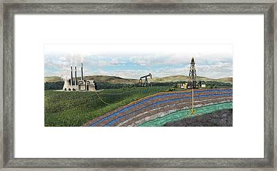 Carbon Capture Technology Framed Print by Nicolle R. Fuller