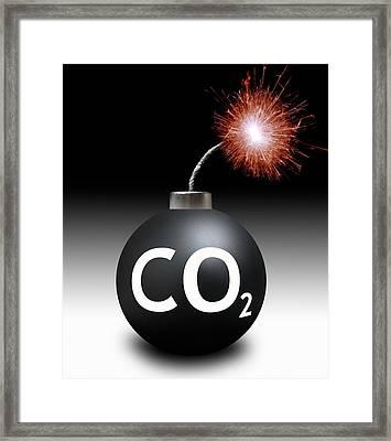 Carbon Dioxide Bomb Framed Print by Victor De Schwanberg