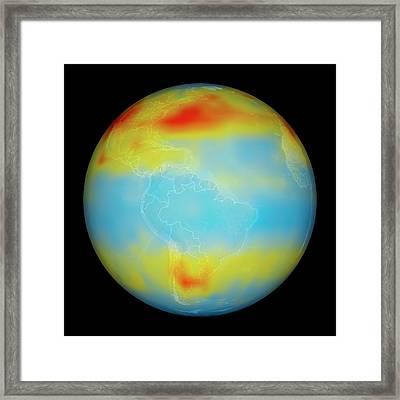 Carbon Dioxide Levels Framed Print by Nasa/goddard Space Flight Center/jet Propulsion Laboratory Scientific Visualization Studio