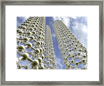 Carbon Nanotubes Framed Print by Science Photo Library