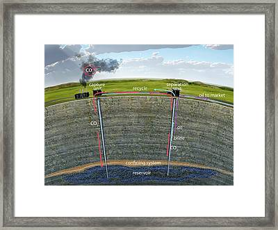 Carbon Sequestration Framed Print by Nicolle R. Fuller