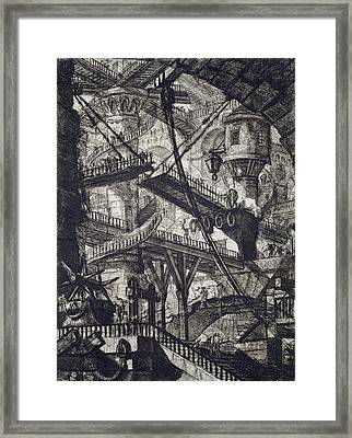 Carceri Vii Framed Print by Giovanni Battista Piranesi