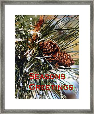 Card For The Winter Framed Print by Kae Cheatham