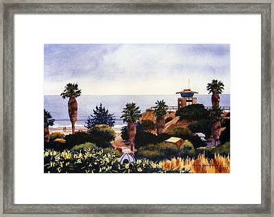 Cardiff State Beach Framed Print by Mary Helmreich