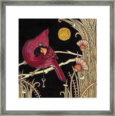 Cardinal Framed Print by Anita Inverarity