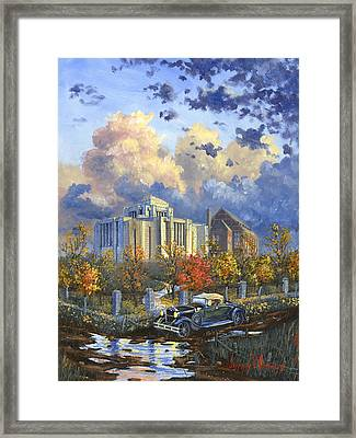 Cardston Alberta Canada Temple Framed Print by Jeff Brimley