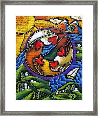 Care Framed Print by Leon Zernitsky