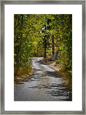 Carefree Highway Framed Print by Mitch Shindelbower