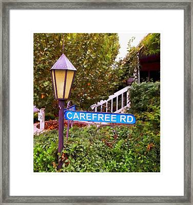 Carefree Road Framed Print by Glenn McCarthy Art and Photography