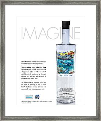 Carey Chen Big Chill Vodka By Jimmy Johnson Framed Print by Carey Chen