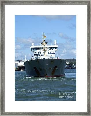 Cargo Ship Framed Print by Antony McAulay