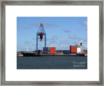 Cargo Shipping Industry Framed Print by Antony McAulay