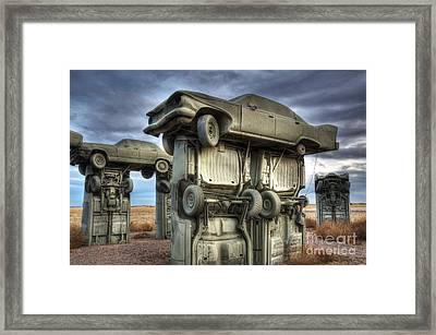 Carhenge Automobile Art 2 Framed Print by Bob Christopher
